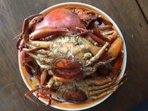 Crabe vietnamien de BBQ de serrata de Scylla de crabe de boue ou crabe grillé Photo stock