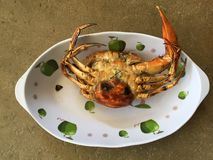 Crabe vietnamien de BBQ de serrata de Scylla de crabe de boue ou crabe grillé Images stock