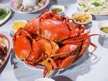 Crabes complètement de plat Photo libre de droits