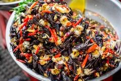 Crabes d'eau douce salés fermentés Image libre de droits