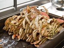 Crabes fraîchement pêchés Images libres de droits