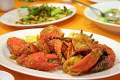Crabes frits Image libre de droits