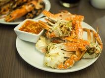 Crabes grillés Photo stock