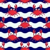 Crabes heureux Image stock