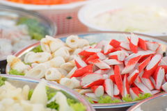 Crabfish und andere essbare Meerestiere Lizenzfreies Stockfoto