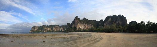 Crabi Thailand Panorama of the beach_2 Royalty Free Stock Photos