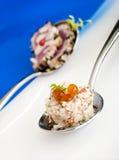 Crabmeat καναπεδάκια Στοκ Φωτογραφία