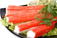 Crabmeat sticks Stock Photo