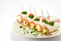crabmeatsticks arkivbild