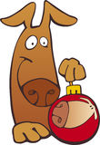 Crabot avec la bille de Noël illustration stock