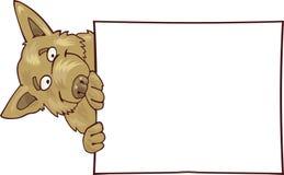 Crabot avec le grand panneau blanc Images stock