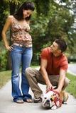 Crabot choyant de couples. Image stock