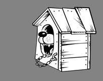 Crabot dans le chenil illustration de vecteur