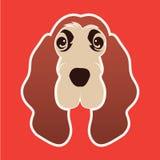 Crabot de chien de logo illustration libre de droits