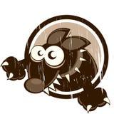 Crabot de dessin animé de cru Image libre de droits
