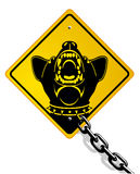 Crabot de dispositif protecteur dangereux illustration de vecteur
