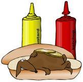 Crabot de saucisse illustration stock