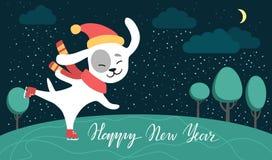 Crabot drôle Symbole de l'année 2018 Style plat, illustration d'isolement Photographie stock