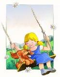 Crabot et fille illustration libre de droits