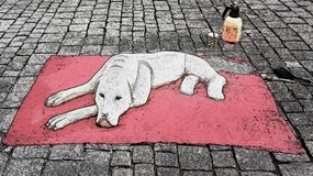 Crabot sur le tapis illustration libre de droits