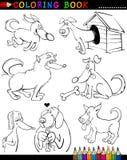 Crabots de dessin animé pour le livre ou la page de coloration Photographie stock