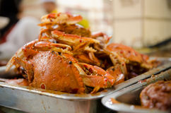 Crabs. Served as one of the main course Royalty Free Stock Photography
