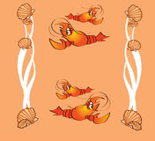 Crabs, clams Royalty Free Stock Photos