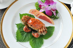 Crabs cuisine. China delicious food Hairy crabs. crabs cuisine Stock Photos