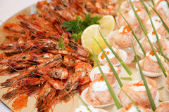 Crabs and fish Royalty Free Stock Images