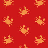 Crabs o fundo Fotografia de Stock Royalty Free
