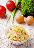 Crabsticks i majonezowa sałatka Zdjęcia Stock