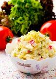 Crabsticks i majonezowa sałatka Obraz Royalty Free