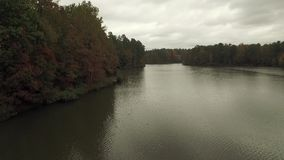 Crabtree湖寄生虫空中录影在罗利NC附近的 股票视频