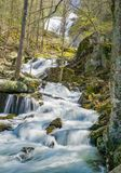 Crabtree Falls off the Blue Ridge Parkway, Virginia, USA Royalty Free Stock Images