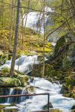 Crabtree Falls off the Blue Ridge Parkway, Virginia, USA Royalty Free Stock Photography