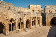 Crac des Chevaliers. Crusader castle - Crac des Chevaliers Stock Photography