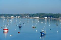 Crac'h een Bretagne rivier Stock Afbeelding
