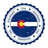 Crachá da bandeira de Colorado ilustração royalty free