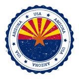 Crachá da bandeira do Arizona ilustração do vetor