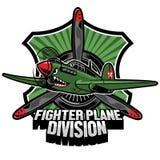 Crachá da divisão do avião de combate Foto de Stock Royalty Free
