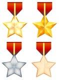 Crachá da medalha - ilustração Fotos de Stock Royalty Free