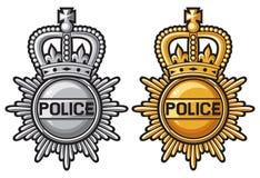 Crachá da polícia ilustração royalty free
