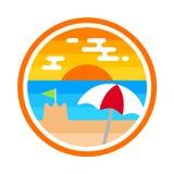 Crachá da praia Imagem de Stock Royalty Free