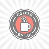 Crachá da ruptura de café com a silhueta cozinhando quente do ícone da caneca de café Imagens de Stock Royalty Free