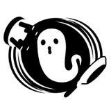 Crachá de Ghost do espírito turbulento/Monochrome do emblema Fotografia de Stock Royalty Free