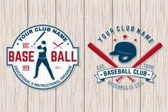 Crachá do clube de basebol Ilustração do vetor Conceito para a camisa ou o logotipo, a cópia, o selo ou o T ilustração do vetor