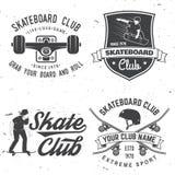 Crachá do clube do skate Ilustração do vetor Fotos de Stock
