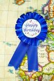 Crachá do feliz aniversario Fotos de Stock Royalty Free