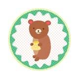 Crachá do urso Fotografia de Stock Royalty Free
