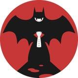 Crachá do vampiro e do bastão/emblema Imagem de Stock Royalty Free